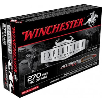 Winchester Expedition Big Game Rifle Ammunition .270 Win 140 gr AB 2950 fps 20/ct