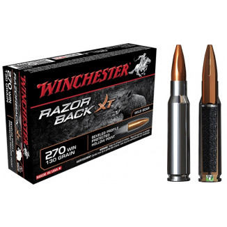 Winchester Razorback XT Rifle Ammunition .270 Win 130 gr HP  - 20/box