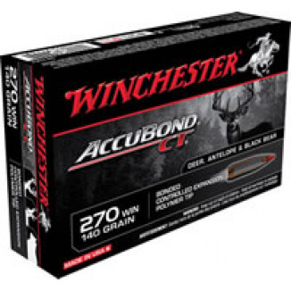 Winchester AccuBond CT Rifle Ammunition .270 WSM 140 gr AB 3200 fps - 20/box
