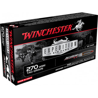 Winchester Expedition Big Game Rifle Ammunition .270 WSM 140 gr AB 3200 fps 20/ct