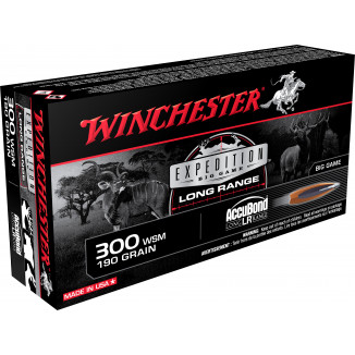 Winchester Expedition Big Game Long Range Rifle Ammunition .300 WSM 190gr AB 2875 fps 20/ct