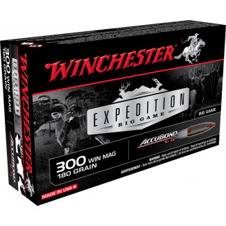 Winchester Expedition Big Game Rifle Ammunition .300 Win Mag 180 gr AB 2950 fps 20/ct