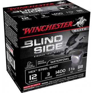 "Winchester Blind Side Shotshells 12 ga 3"" 1-3.8 oz #BB 100/ct"