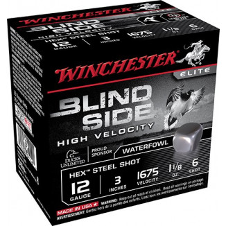 "Winchester Blind Side Shotshells 12 ga 3"" 1-1/8 oz #6 25/ct"