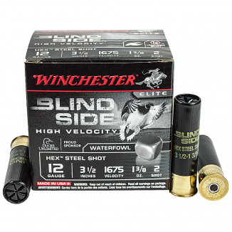 "Winchester Blind Side 12 ga 3-1/2"" 1-1/8 oz #2 25/Box"