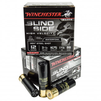 "Winchester Blind Side 12 ga 3-1/2"" 1-1/8 oz #BB 25/Box"
