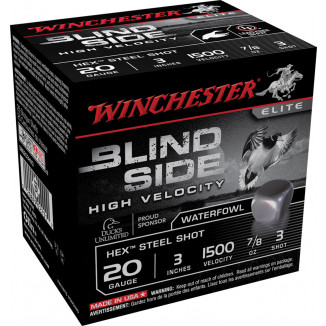 "Winchester Blind Side Shotshells 12 ga 3"" 7/8 oz #3 25/Box"