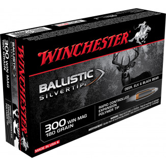 Winchester Ballistic Silvertip Rifle Ammunition .300 Win Mag 180 gr BST 2950 fps - 20/box