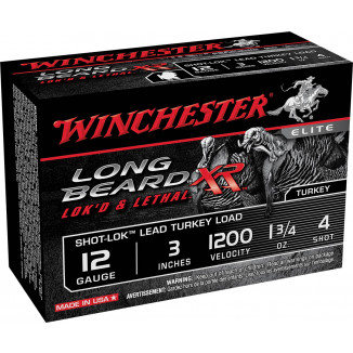 "Winchester Long Beard XR Shotshells 3"" 1-3/4 oz #4 10/Box"