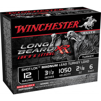 "Winchester Long Beard XR Shotshells 12ga 3 1/2"" #6 2 1/8oz 10rd"