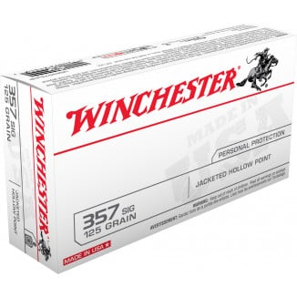 Winchester USA Handgun Ammunition .357 SIG 1 25 gr JHP  50/box