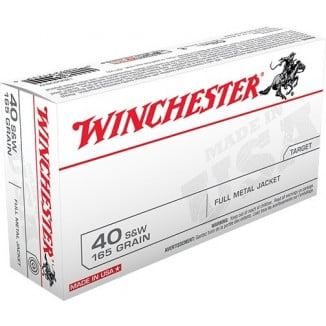 Winchester USA Handgun Ammunition .40 S&W 165 gr FMJ 1060 fps 200/ct
