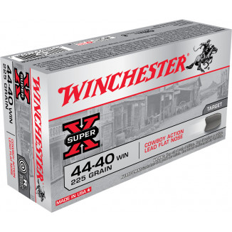 Winchester Cowboy Load Handgun Ammunition .44-40 Win 225 gr LRN - 50/box