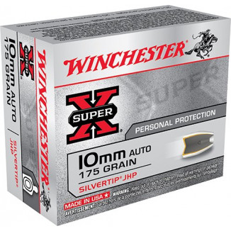 Winchester Super-X Handgun Ammunition - Silvertip - 10mm 175 gr HP - 20/ct