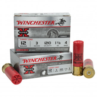 "Winchester Super-X Turkey Loads 3"" 1-7/8 oz #4 10/Box"