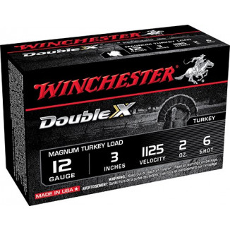 "Winchester Double X Magnum Turkey Load Shotshell 12 ga 3"" 2 oz #6 10/ct"