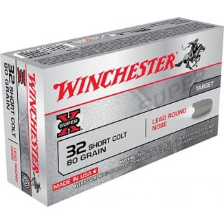 Winchester Super-X Handgun Ammunition .32 Colt 80 gr LRN 745 fps 50/box