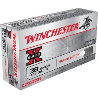Winchester Super-X Handgun Ammunition .38 Spl 148 gr LWC 710 fps 50/ct