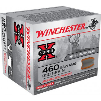 Winchester Super-X Handgun Ammunition .460 S&W 250 gr JHP 1450 fps 20/box