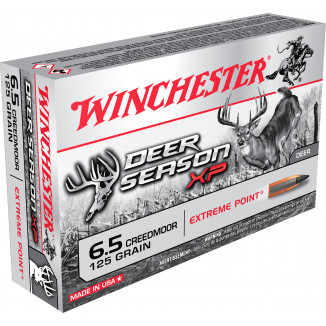 Winchester Deer Season XP Rifle Ammunition 6.5 Creedmoor 125gr Extreme Point Poly Tip 2850 fps 20/ct