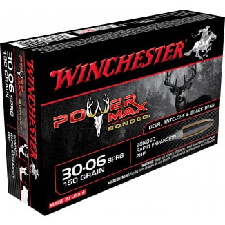 Winchester Super-X Power Max Bonded Rifle Ammunition .30-06 Sprg 150 gr PHP 2920 fps - 20/box