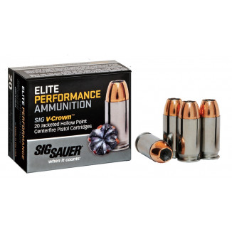 Sig Sauer Elite Performance Pistol Ammunition .357 Sig 125 gr Elite V-Crown JHP Box 20