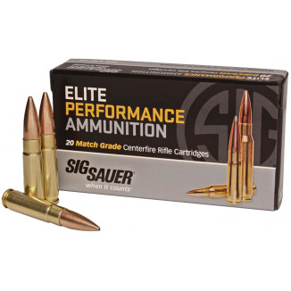 Sig Sauer Elite Supersonic Performance Match Rifle Ammunition .300 AAC Blackout 125 gr OTM 2200 fps 20/ct