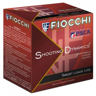 Fiocchi Target Light Shooting Dynamics Shotshells 12ga 2-3/4 in 1-1/8 oz 1165 fps #7.5 25/ct