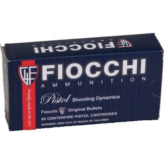 Fiocchi Pistol Shooting Dynamics Handgun Ammunition .40 S&W 180 gr FMJ Flat Nose 50/Box