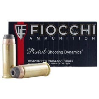Fiocchi Pistol Shooting Dynamics Handgun Ammunition .44 Mag 240 gr JSP 1310 fps 50/box