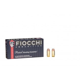 Fiocchi Pistol Shooting Dynamics Handgun Ammunition .45 ACP 200 gr JHP 890 fps 50/box