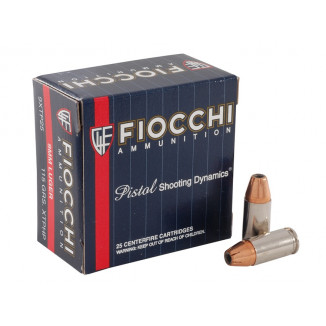 Fiocchi Extrema Handgun Ammunition 9mm Luger 115 gr JHP 1150 fps 25/box