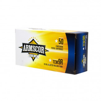 Advanced Tactical Firearms Armscor Nickel Plated Ammunition .22TCM 9R 39 gr JHP 50/ct