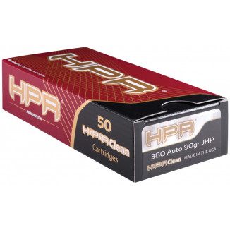 HPR Handgun Ammunition .380 ACP 90 gr JHP 915 fps 50/ct