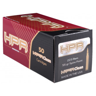 HPR Rifle Ammunition .223 Rem 55 gr Spire Point 3072 fps 50/ct