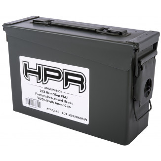 HPR Bulk Ammo Can Rifle Ammunition .223 Rem 55 gr FMJ 3223 fps 420/ct