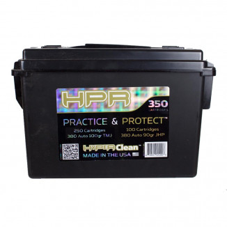HPR Practice and Protection Handgun Ammunition .380 ACP 100 gr TMJ/90 gr JHP 250/100ct