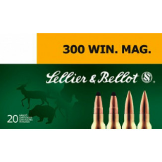 Sellier & Bellot Rifle Ammunition .300 Win Mag 180 gr SPCE 20/Box
