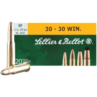 Sellier & Bellot Rifle Ammunition .30-30 Win 150 gr SP 1030 fps - 20/box