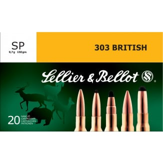 Sellier & Bellot .303 Britsh 150 gr SP