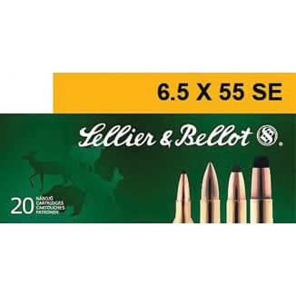 Sellier & Bellot Rifle Ammunition 6.5x55 SE 131 gr SP 793 fps - 20/box