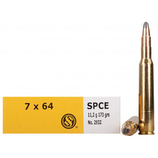 Sellier & Bellot Rifle Ammunition 7x64mm 173 gr SPCE 770 fps - 20/box