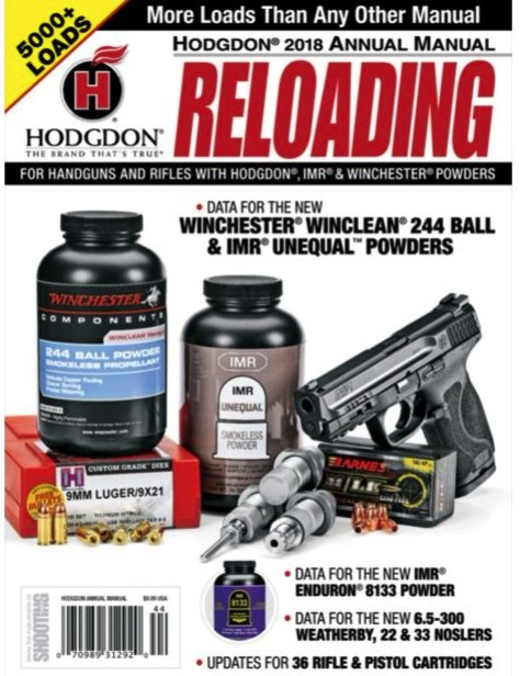 Hodgdon Powder Annual Reloading Manual - 2018 Softcover