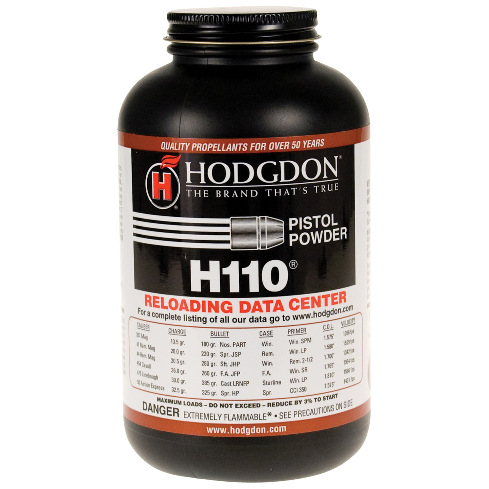 Hodgdon H110 Spherical Shotshell & Handgun Powder 1 lbs