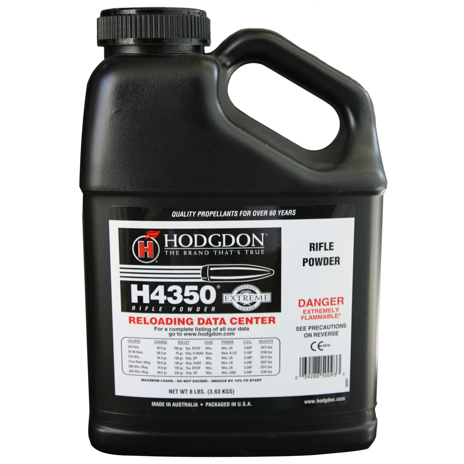 Hodgdon Extreme H4350 Rifle Powder 8 lbs