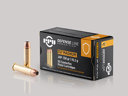 ppu handgun defense ammunition 357 magnum jhp 158gr 1607 fps 50 ct natchez ppu handgun defense ammunition 357 magnum jhp 158gr 1607 fps 50 ct