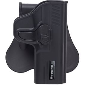 Bulldog Rapid Release Polymer holster with paddle - RH only Fits Standard  Ruger SR9