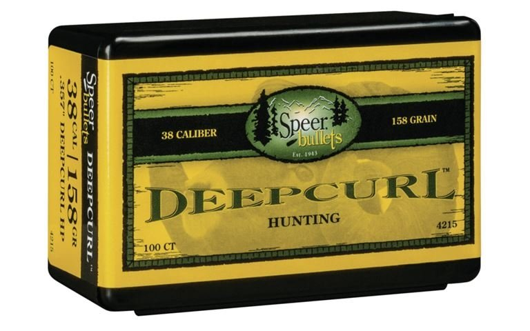 Speer Deep Curl Handgun Hunting Bullets  38 cal /  357 Mag  357