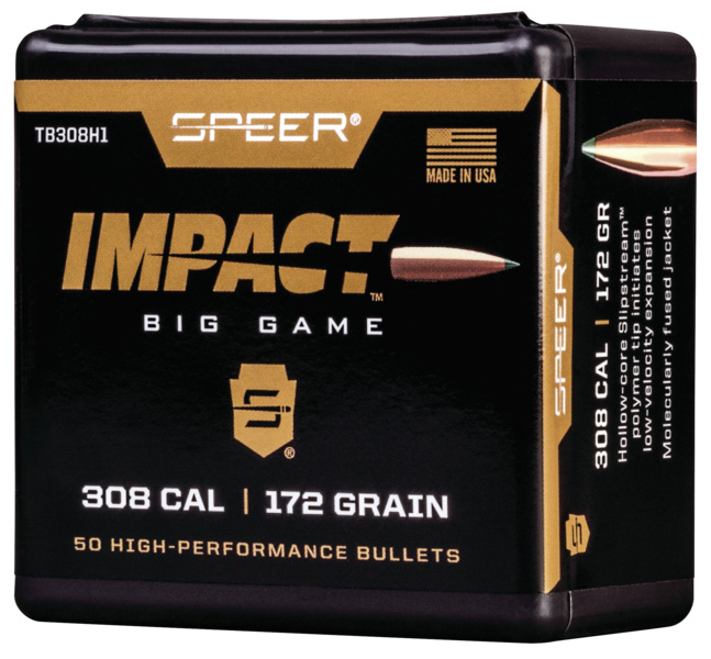 Speer Impact Big Game Rifle Bullets  308 Win 170gr TIPPED PLATED CB 50/rd