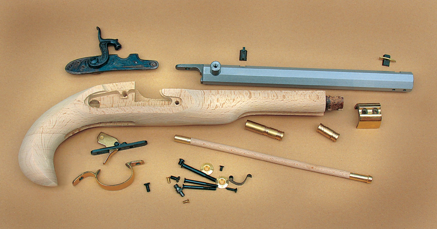 Traditions Black Powder Kentucky Pistol Build-It-Yourself Kit Select Raw  Hardwood  50 Cal 10